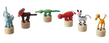 Wooden Jungle Animal Press Toy