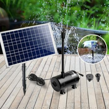 Gardeon 100W Solar Powered Water Pond Pump Outdoor Submersible with Filter