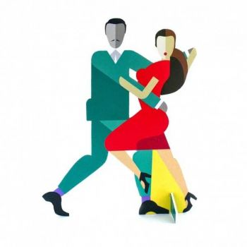 Pop Out Card-Tango Couple-A5