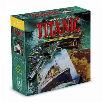 """Murder on the Titanic Classic Mystery Jigsaw Puzzle 8 x 8"""""""