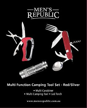 Men's Republic Camping Multifunction Tool Set and Torch