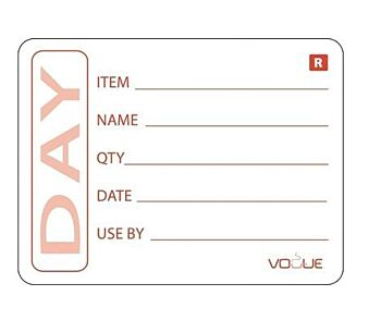 Removable Day Labels/500