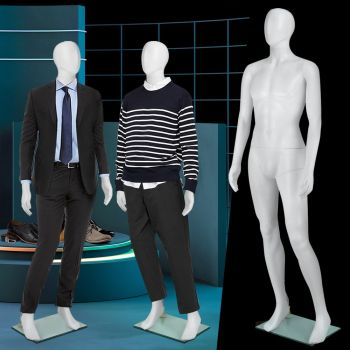 Full Body 185cm Male Mannequin Head Torso Clothes Display Dressmaking Showcase