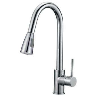 Pull Out Kitchen Basin Mixer Tap Swivel Spout Gooseneck Taps Sink Faucet WELS
