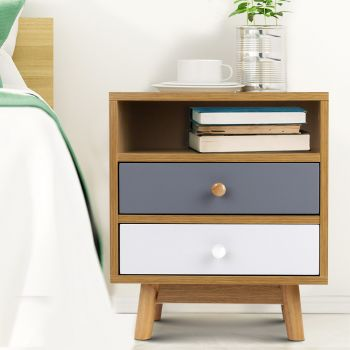 Bedside Tables Drawers Side Table Bedroom Furniture Nightstand Cabinet