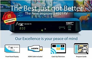 Altech UEC DSD4921RV VAST Twin Tuner Satellite Receiver Decoder