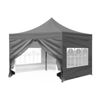 Mountview Pop Up Gazebo Outdoor Foldable Tent 3x3M in Grey Colour