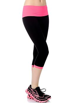 Jerf- Womens-Patras - Black and Neon Pink - Active Tight