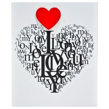 Card Heart of Letters