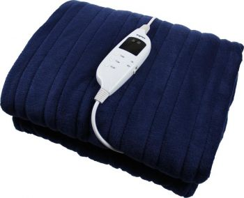 Heated Throw Rug / Electric Snuggle Blanket and Washable-Blue
