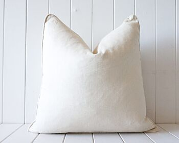Indoor Cushion - Linen Feather Insert - Off White- 50x50