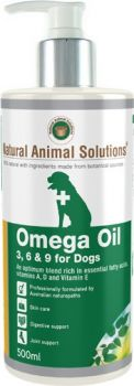 NATURAL ANIMAL SOLUTIONS OMEGA 3 6 & 9 OIL FOR DOGS 500ML
