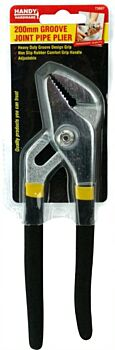 Pipe Pliers Groove Joint Rubber Grip Handle