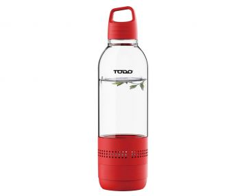 Bluetooth Water Bottle Speaker 400Ml Portable Rechargeable Bottled Speakers - Red
