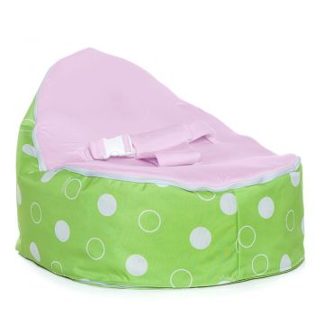 Chibebe Green Polka Baby Bean Bag - Grape