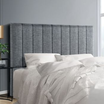 Artiss QUEEN Size Bed Head Headboard Bedhead Fabric Frame Base SALA Grey