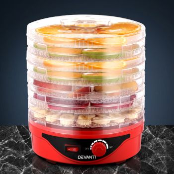Devanti 7 Trays Food Dehydrators Jerky Dehydrator Dryer Maker Fruit Preserver RD