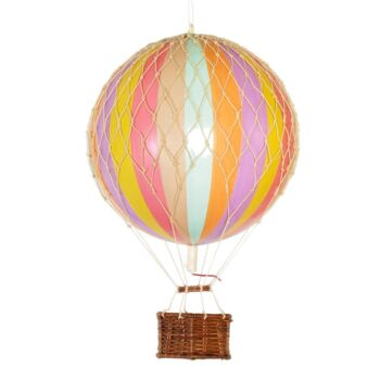 Authentic Models Travels Light Hot Air Balloon Model - Pastille Rainbow