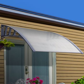 Instahut Window Door Awning Door Canopy Outdoor Patio Sun Shield 1.5mx4m DIY