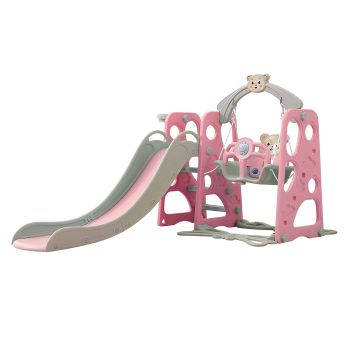 BoPeep Baby Slide and Swing Playset in Pink Colour