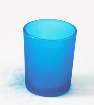 24 Pack - Turquoise Cyan Tiffany Blue Frosted Shot Glass Tealight Votive Candle Holder 6.5cm