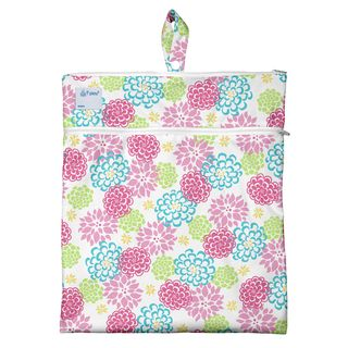 Wet & Dry Bag-White Zinnia