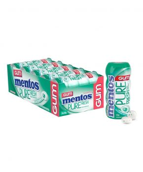 Mentos Pure Fresh Chewing Gum, Spearmint 30g