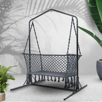 Gardeon Swing Hammock Chair with Stand Frame 2 Seater Bench Furniture