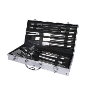 Outdoor Stainless Steel BBQ set 10 Pcs