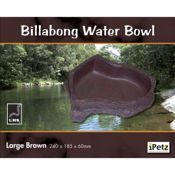 ULTIMATE REPTILE SUPPLIERS BILLABONG WATER BOWL BROWN LARGE