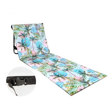 BEACH LOUNGER COLLAPSIBLE MOON PALM 158 (L)  X 58 (W)