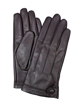 Women's Fine Leather gloves with Stud Button Detail