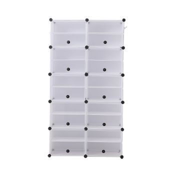 10 Tier Cute Cabinet Stackable Organiser for Shoes in White