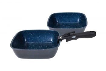 Flavorstone Diamond 22 & 24cm Deep Pan Set