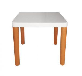 Arina Square Lamp Side Table - White