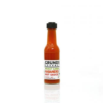 Grunds Gourmet Roast Garlic Habanero Hot Sauce
