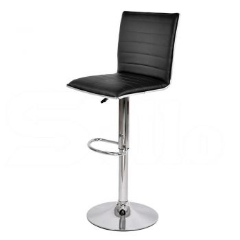 2x Levede PU Leather Industrial Swivel Chair Bar Stools in White