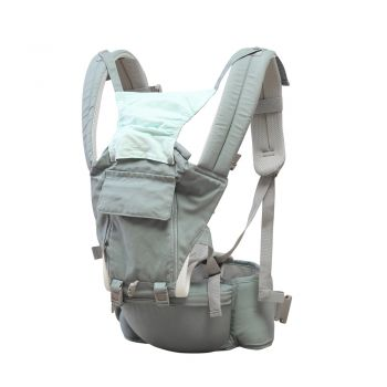 Ergonomic Hip Wrap Baby Seat Carrier for Infants in Green