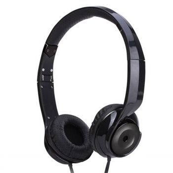 Black Holysmoke Motif On Ear Foldable Headphones