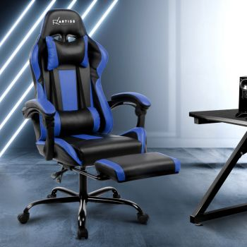 Artiss Gaming Office Chair Computer Desk Chairs Seating Racing Racer Black Blue