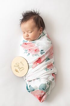 Rosy Oh-So-Soft Muslin Single Swaddle Blanket