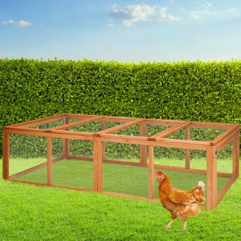 i.Pet Wooden Chicken Coop Coops Metal Run Extra Large XL 180cm length Outdoor Hen Chook House Cage With Nesting Box Rabbit Hutch
