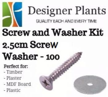 Screw and Washer Kit (Timber and Plaster) - 100 Pack