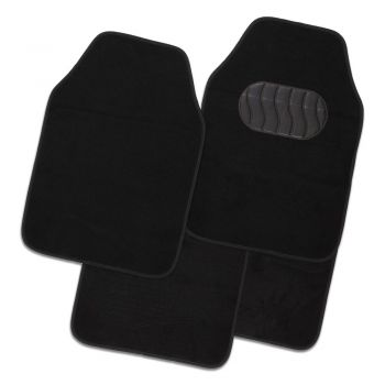 Mercury 4-Piece Car Mat - Black [Carpet]