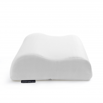 Contoured Pillow Neck Support Memory Foam in Charcoal