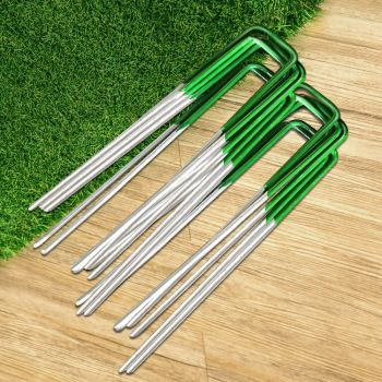 Primeturf 100pcs Synthetic Artificial Grass Pins Fake Lawn Turf Weed Mat Pegs