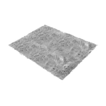 Shaggy and Soft Fur Carpet Floor Rug Mats 60x150cms in Grey