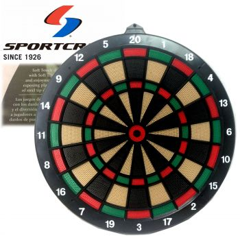 "Sportscraft 18"" Dart Board Official Tournament Size Soft Tip"