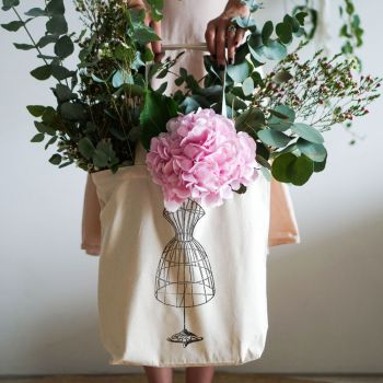 Vintage Dress Form Tote Bag