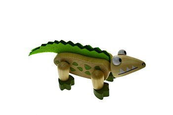 PRICE FOR ONE WOODEN FLEXI CROCODILE